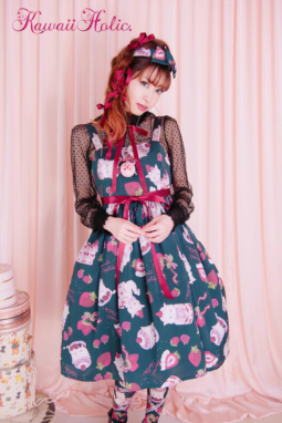 Strawberry on the Catジャンパースカート