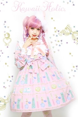 魔法少女はコスメがお好きワンピース(ピンク)